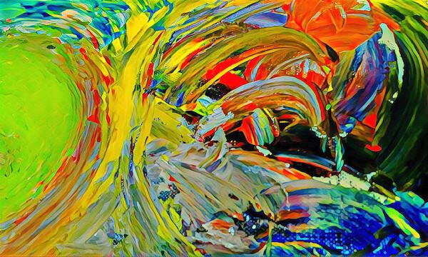 Energetic painting